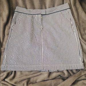 Tommy Hilfiger Navy Pin Striped Skirt